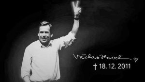 Václav Havel, dissident, playwrite, and first president of Czechoslovakia after the fall of the Iron Curtain