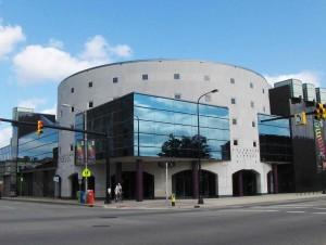 Kalamazoo Public Library, street-side